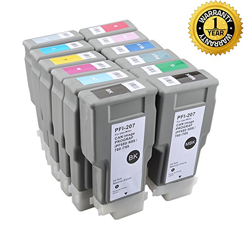 Canon PFI206 Compatible Replacement Inkjet Cartridge for CANON PFI-206 for Canon iPF6400 iPF6450 12PC 300ml WINK cartridge