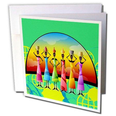 [Spiritual Awakenings -Ethnic - African American Woman Designer Art Original - 12 Greeting Cards with envelopes (gc_205174_2)] (African American Stationery)