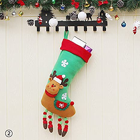 Amazon.com: Eachbid Christmas Socks Santa Claus Gifts Bag Candy Bag Christmas Stocking Knifes Folks Bag - Elk1#, 21.55924cm: Home & Kitchen