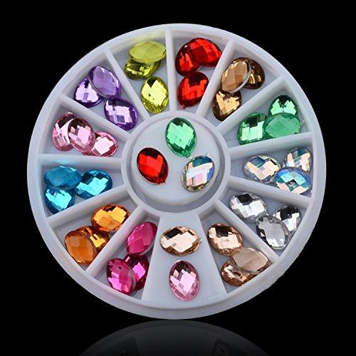 2MM/3MM/4MM AB White Metal Pearl Nail Glitter Nail Rhinestones Crystal DIY Nail Art Decorations Manicure Tools 052 by DKjiaoso