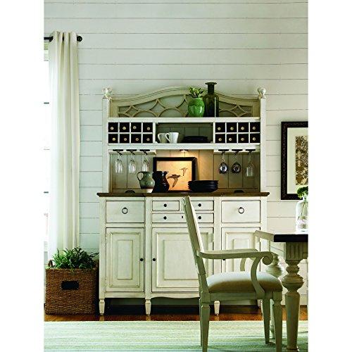 Chair Hutch Buffet - Universal Furniture 987670C Summer Hill Buffet with Complete Bar Hutch, Cotton