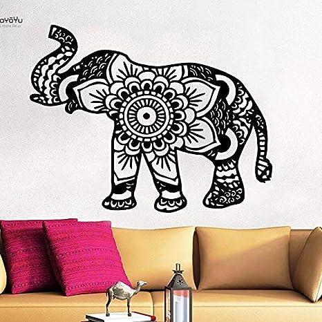 BailongXiao Tatuajes de Pared Animal Pegatina Vinilo Arte Elefante ...