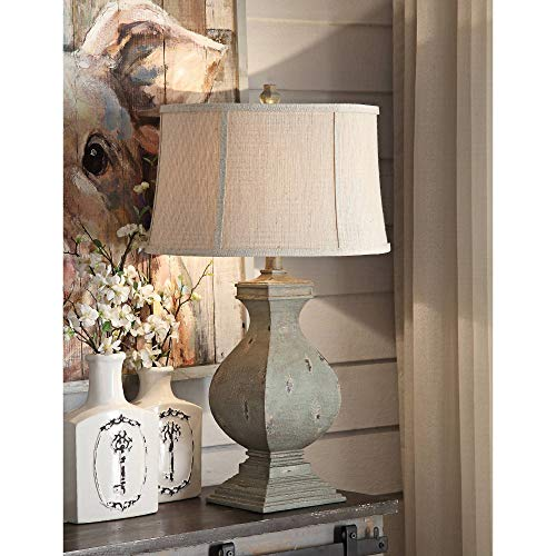 Crestview Collection Easton Tarnished Green Wood Table Lamp from Crestview Collection