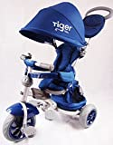 TIGER CHILDREN KIDS TRIKE TRICYCLE- 4 STAGES(blue navy)