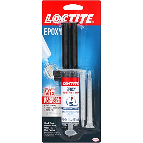 Loctite Epoxy Five Minute Instant Mix 0.47-Fluid Ounce Syringe (1365868)
