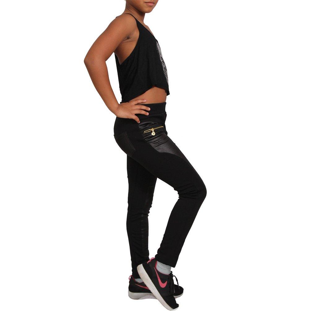 c864c0d81f Kinder Thermo Leder Look Optik Treggings Leggins Hose Jeans Leggings  Jeggings Y [1541646340-479923] - €5.30