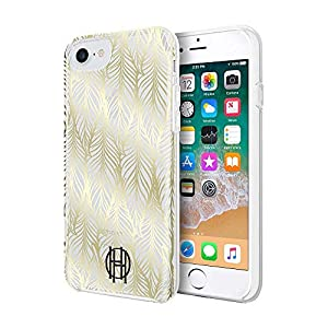 House of Harlow 1960 Printed Case for iPhone 8, iPhone 7 & iPhone 6/6s – Leaf Print Gold Foil/Clear