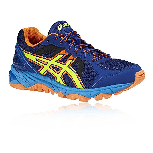 GS Junior Asics Fujitrabuco Gel Running Shoe 3 Blue zzaftxwqv5