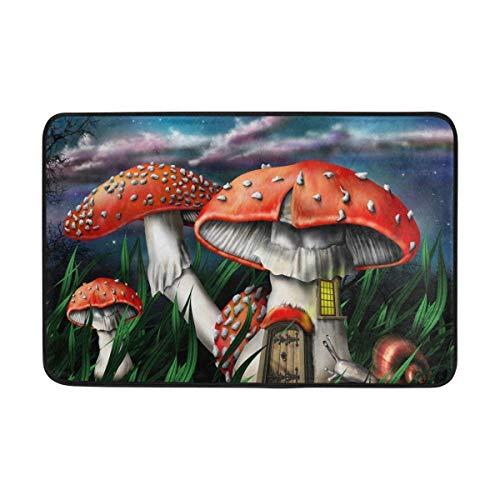 jin bo Magic Mushrooms Doormat Area Rug Rugs Non-Slip Indoor