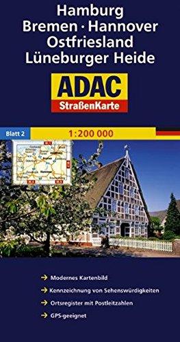 adac-strassenkarte-deutschland-hamburg-bremen-hannover-ostfriesland-lneburger-heide-1-200000-adac-autokarten-deutschland-1-200-000