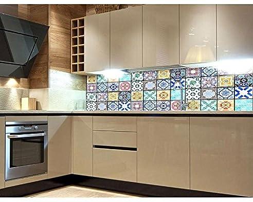 Küchenrückwand Folie selbstklebend AZULEJOS 180 x 60 cm ...