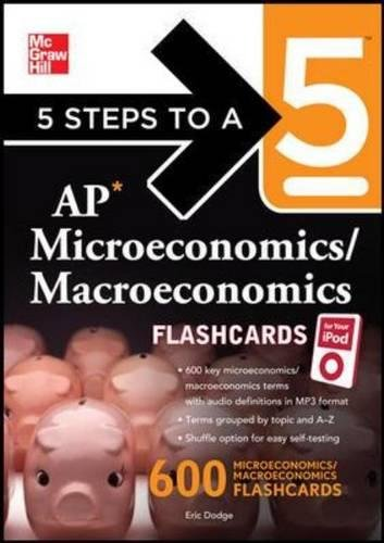 croeconomics/ Macroeconomics Flashcards for your iPod with MP3 Disk (5 Steps to a 5 on the Advanced Placement Examinations Series) ()