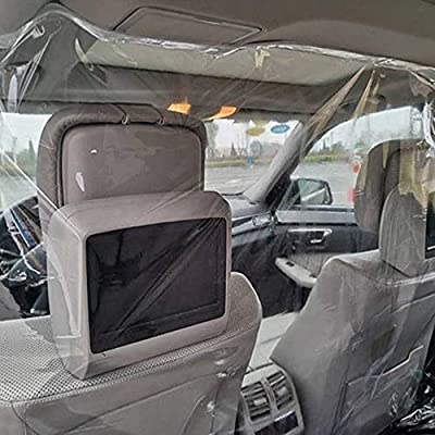 DON ALVARO, INC. Car Taxi Isolation Film, Transparent Plastic Anti-Fog Full Surround Protective Cover, Curtain Cab Front and Rear Row Car Taxi Protective Film (1.4mx1.8m/55inx70in): Automotive