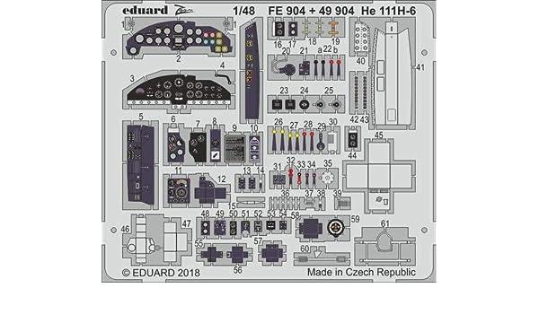 Eduard 1:48 He 111H-6   PE Detail Set For ICM #FE904