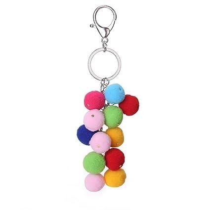 Shangwelluk Bolas de Peluche Coloridas Preciosas Mini ...