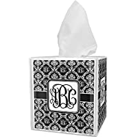 RNK Shops Monogrammed Damask Tissue Box Cover (Personalized)