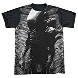 Sons of Gotham - ALIEN Creature Feature Adult Black Back 100% Poly T-Shirt XL