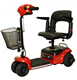 Shoprider - Scootie - Portable Travel Scooter - 4-Wheel - Red