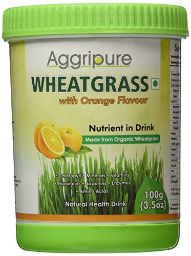 Aggripure Wheatgrass Powder For Detoxification, Blood Sugar Control & Much More - Good source of Micronutrients & essential elements - Pure Natural and Ultra Effective! 3.5OZ