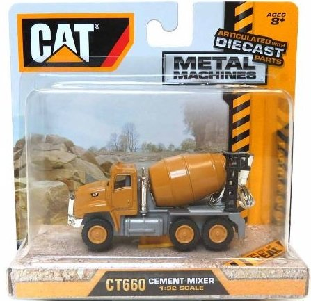 Caterpillar Toy State CAT39515 Cat CT660 Cement Mixer 1:92 Scale (Scale Diecast Cat)