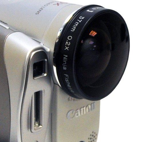 Opteka Platinum Series 0.2X Low-Profile Ninja Fisheye Lens for 30.5mm Camcorders by Opteka