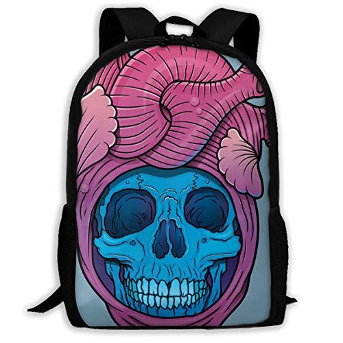 Skull Heart Multi-function Backpack College Bookbag