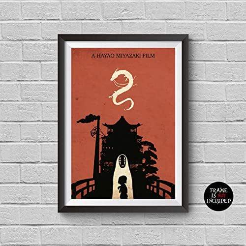 Amazon.com: Spirited Away Minimalist Poster Hayao Miyazaki ...