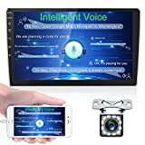 10 Inch Android GPS Sat Navi Stereo Player with NEXAI Intelligent Voice 2 Din Touch Screen Bluetooth WiFi FM Receiver Mobile Phone Mirror Link Dual USB + Backup Camera