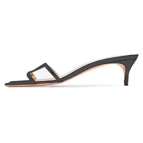 low black kitten heels