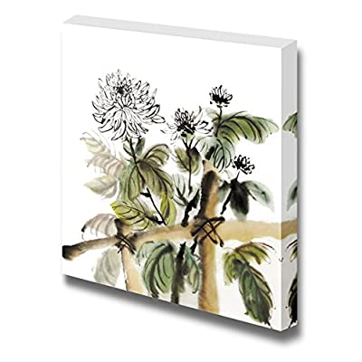 Unbelievable Composition, Chinese Chrysanthemum Garden Ink Painting on White Background, With Expert Quality