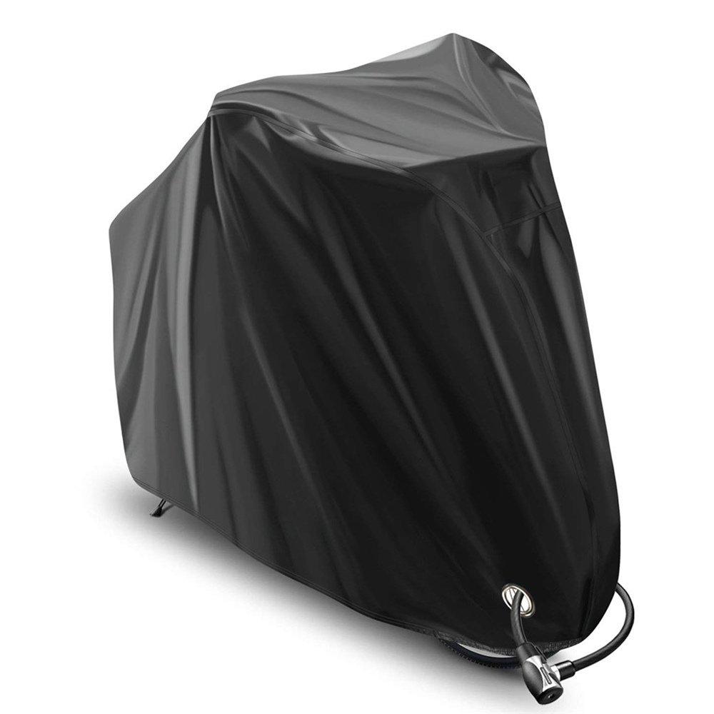belupai Lockable防水太陽保護自転車カバー210tポリエステル/210dオックスフォードバイクHeavy Dutyリップストップ素材、防水紫外線対策のマウンテンバイクロードバイクストレージバッグ   B07FKKWZ4L