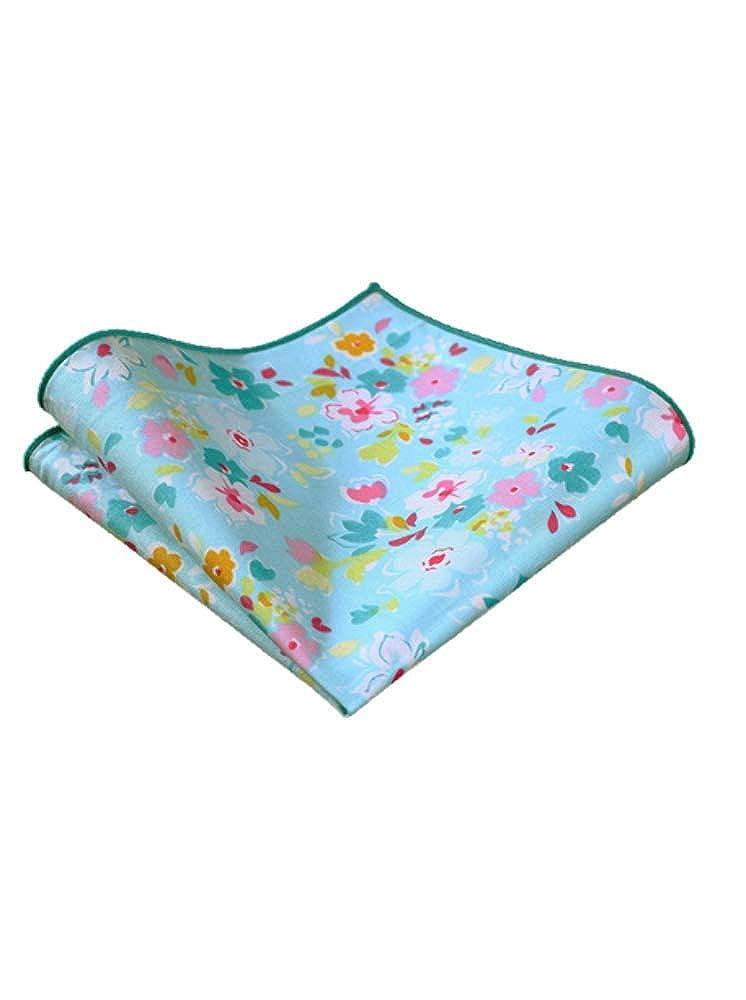 Blue Sky Floral w//Pocket Square
