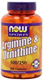 NOW Sports L-Arginine & Ornithine 500/250 mg,250 Capsules