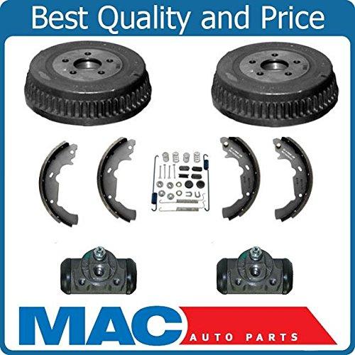 Rear Brake Drum Drums Shoes Spring Kit Wheel Cylinder Fits 95-03 Fits For Ford Windstar ()