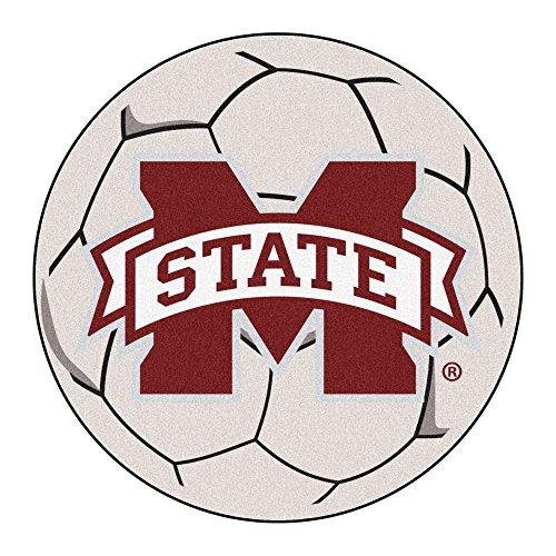 (NCAA Mississippi State University Bulldogs Soccer Ball Mat Round Area)
