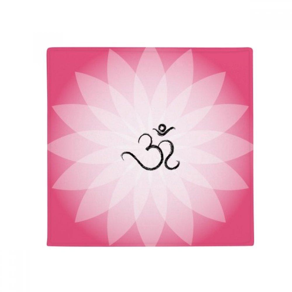 DIYthinker Buddhism Pink Lotus Sanskrit Pattern Anti-Slip Floor Pet Mat Square Home Kitchen Door 80Cm Gift