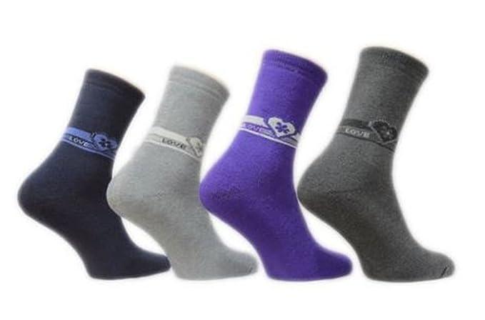 12 pares de calcetines térmicos mujer Medias Multicolor invierno Talla 35 – 42 multicolor