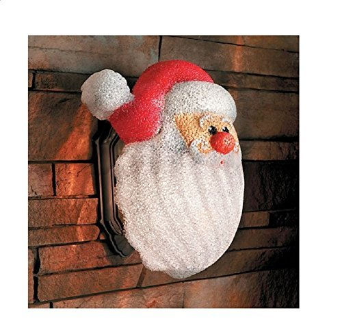 The Lakeside Collection Trenton Gifts Santa Holiday Christmas Porch Light Covers ()