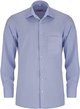 Manga Larga Marvelis Cl/ásico para hombre Camisa formal B/ásico