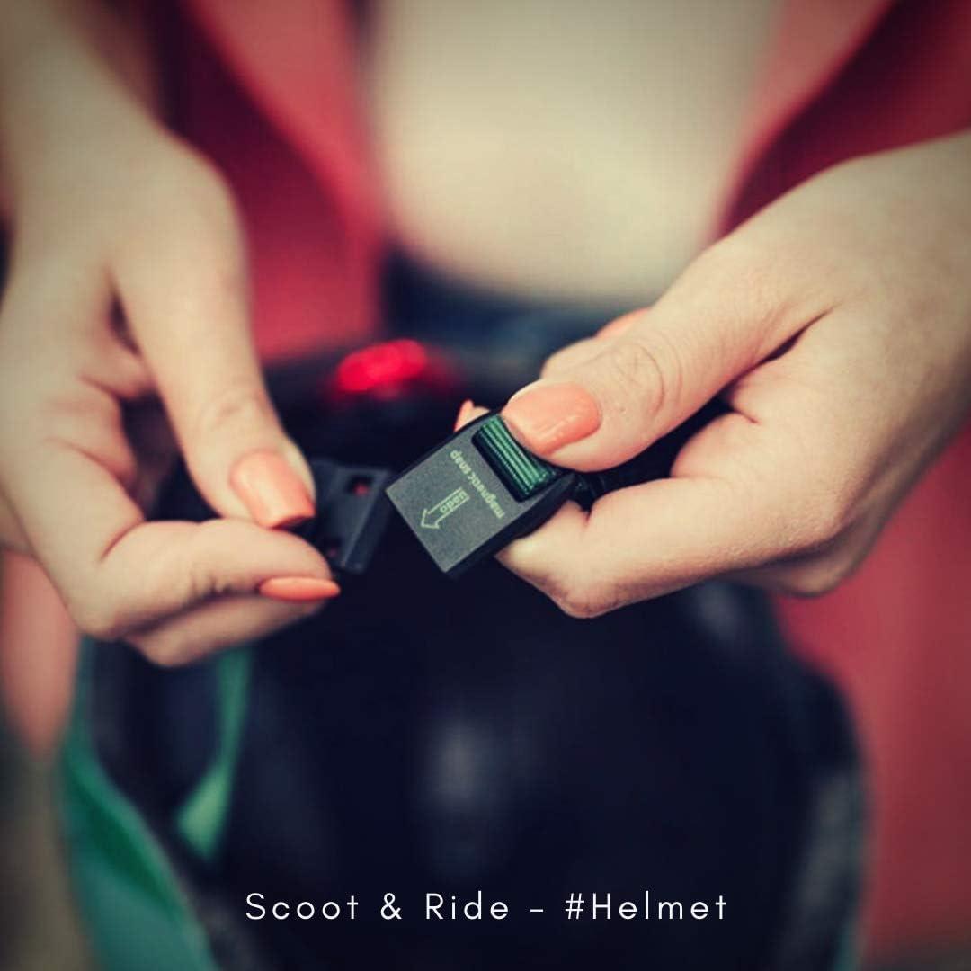 45 a 51 cm Casco Infantil para Bicicleta Scoot /& Ride dise/ño de Rosa