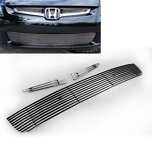 ZMAUTOPARTS Honda Accord Sedan 4Dr Front Bumper Lower Billet Grille Grill Combo New