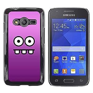 LECELL -- Funda protectora / Cubierta / Piel For Samsung Galaxy Ace 4 G313 SM-G313F -- Funny Funny Face --