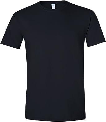 Gildan - Suave básica camiseta de manga corta para hombre - 100% algodón gordo (Pequeña (S)/Negro): Amazon.es: Ropa y accesorios