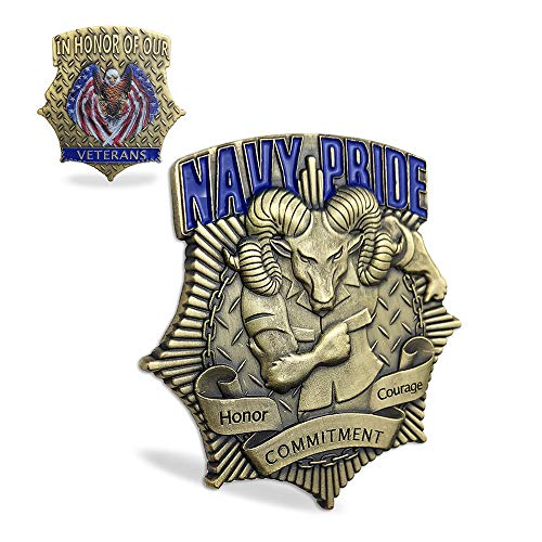 CPO Navy Veteran Challenge Coins United States Navy Pride Military Coin ()