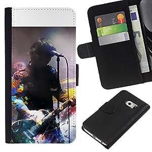 Ihec-Tech / Flip PU Cuero Cover Case para Samsung Galaxy S6 EDGE SM-G925 - Music Artist Signing