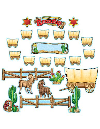 Teacher Created Resources Western Roundup Bulletin Board, Multi Color (4776) -
