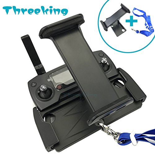 Threeking 4-12 Inches Tablet Aluminum-Alloy Foldable Extendable Holder Mount with Neck Strap Compatible for DJI Mavic Pro/Mavic 2 Pro/Mavic 2 Zoom/Spark/Mavic Air Remote Controller