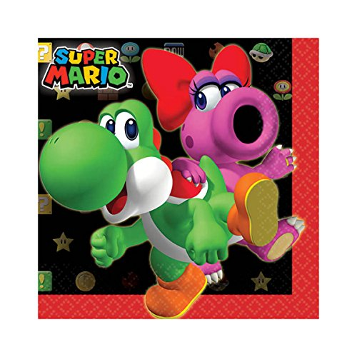Super Mario Brothers Beverage Napkins, Party Favor