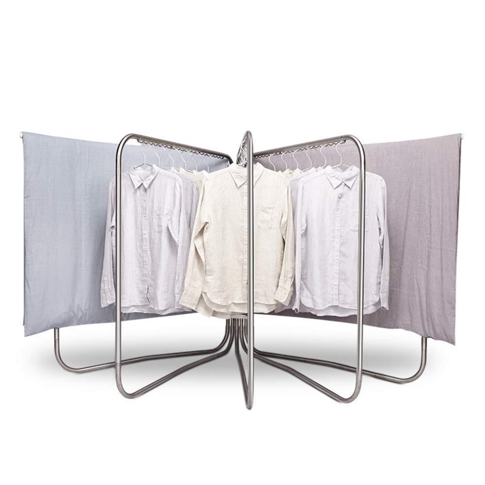 JJL 3つ1つの折る乾燥の棚、調節可能な折り畳み式の衣服の乾燥の棚の植物の立場の頑丈な衣服の棚の屋内屋外のための洗濯の乾燥の棚 B07QPY1YR8