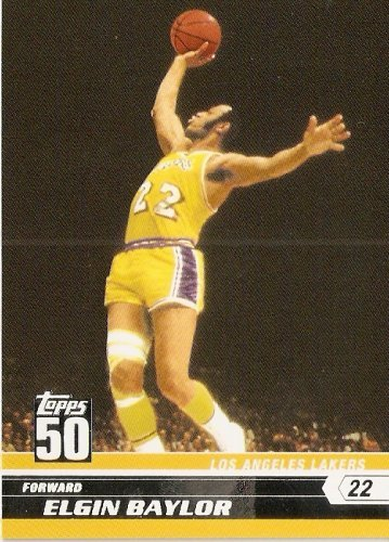 2007-08 (2008) Topps 50th Anniversary Limited Edition # 16 Elgin Baylor / Los Angeles Lakers - NBA Basketball Trading - 2007 Cards Trading 2008 Basketball